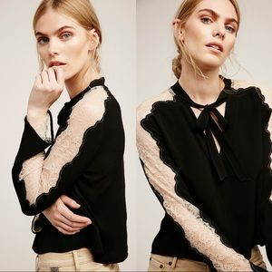FREE PEOPLE Freya Tie Front Blouse